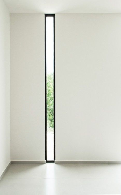 Vertical glass window - use to create separation of spaces