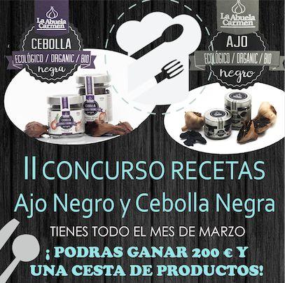 ¡Solo quedan 2 semanas para participar! #Concurso de #recetas con #AjoNegro y #Cebolla Negra. ¿Te atreves? https://goo.gl/SeKW7E