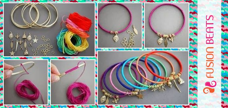 Easy to do #bracelet! Grab your favorite #color thread and get going.
