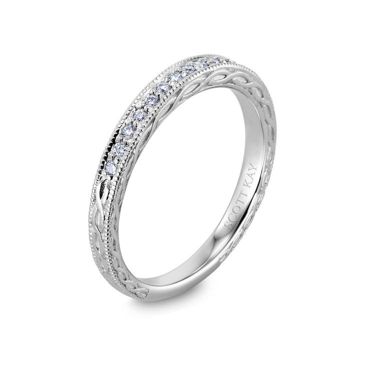 14kt White Gold H SI Ladies Infinite Design Wedding Band From The Radiance