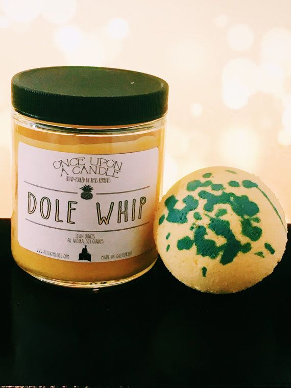 Pineapple Dole Whip Candle & Bathbomb Disney by RensRemedies