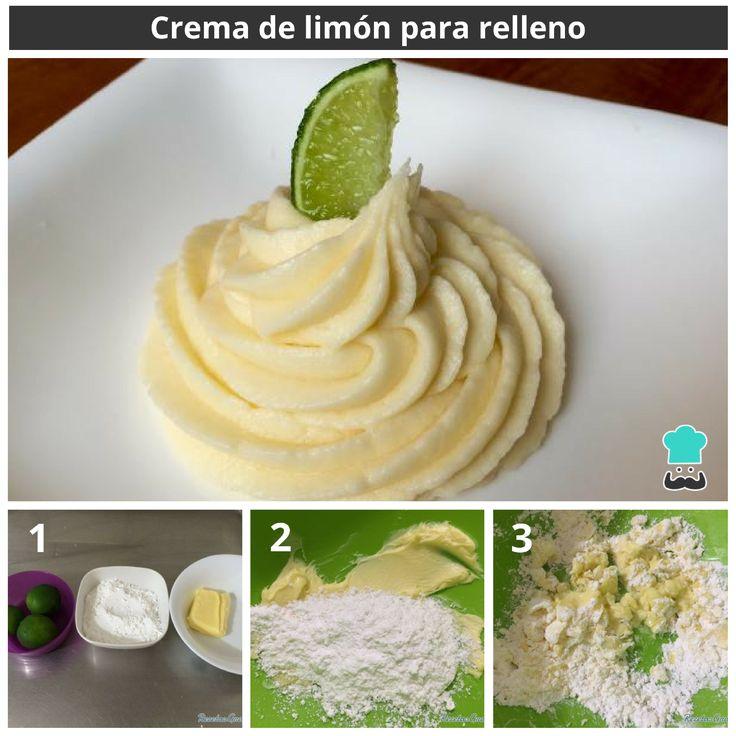 Crema de limón para postres#RecetasGratis #RecetasFáciles #RecetasRápidas #Limón #Buttercream