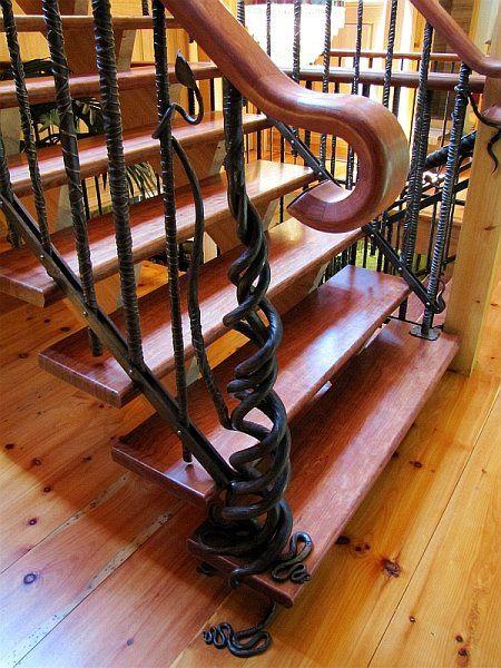 Awesome Giant Bridge #rebar #twisted #custom #staircase #forged #wroughtiron  #handrail