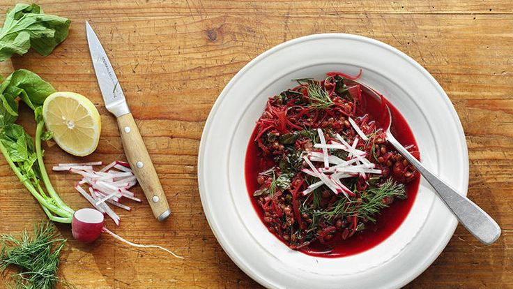 Lentil and Beet Soup   Rachel Ray Show [this sounds so good.... I need to try soon!]