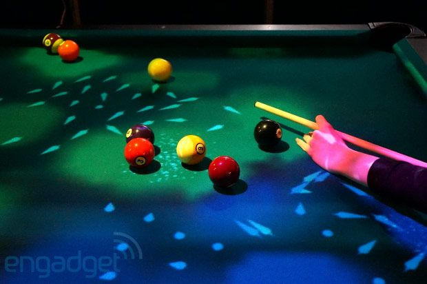 OpenPool: Augmented Reality Billiard mit Kinect-Lightshow - Engadget German