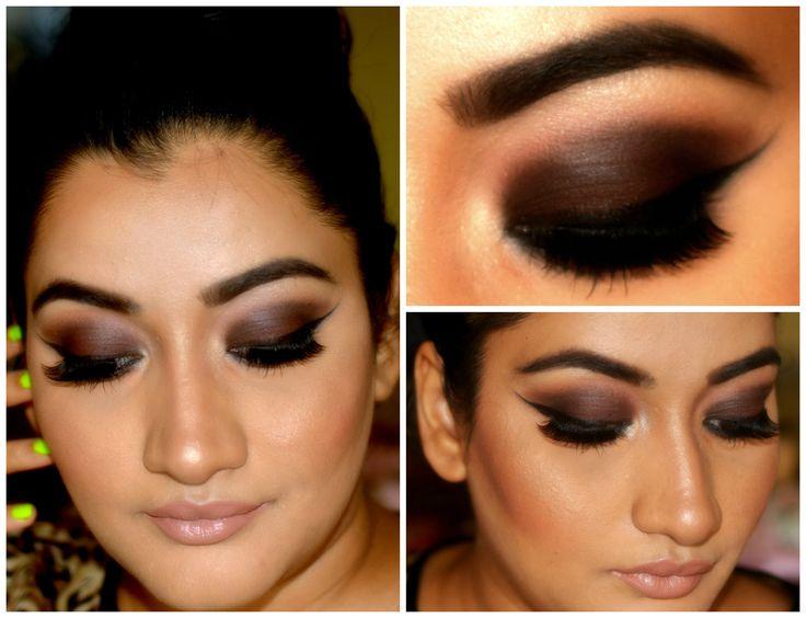 Dark Brown Smokey Eye Makeup Tutorial