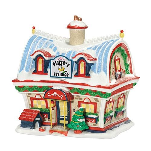 Disney Mickey's Christmas Village - Pluto's Pet Shop