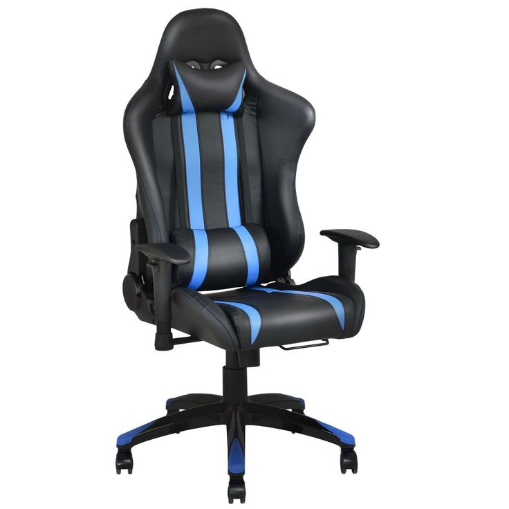 Giantex Modern Office Chair Racing High Back Reclining Gaming Chair Ergonomic Computer Desk Chair Office Furniture Hw53993Bl
