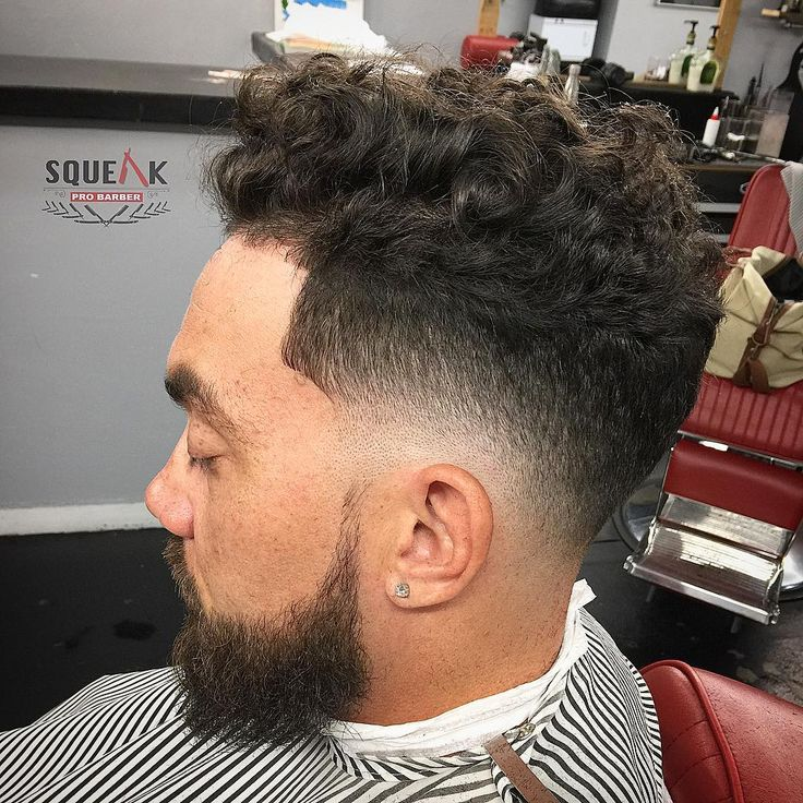 Curly Hair with mid Fade Best Fade Haircuts