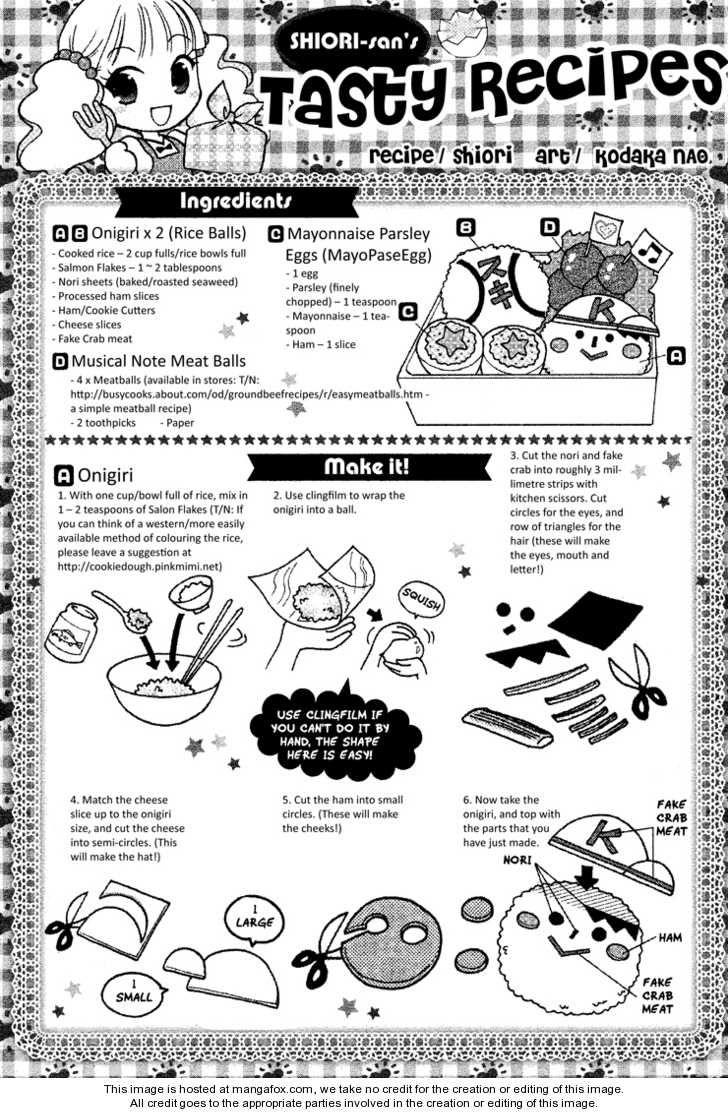 Onigiri x 2, Musical Note Meat Balls, Mayonnaise Parsley Egg recipe part 1 - Hatsukoi Lunch Box by Kodaka Nao