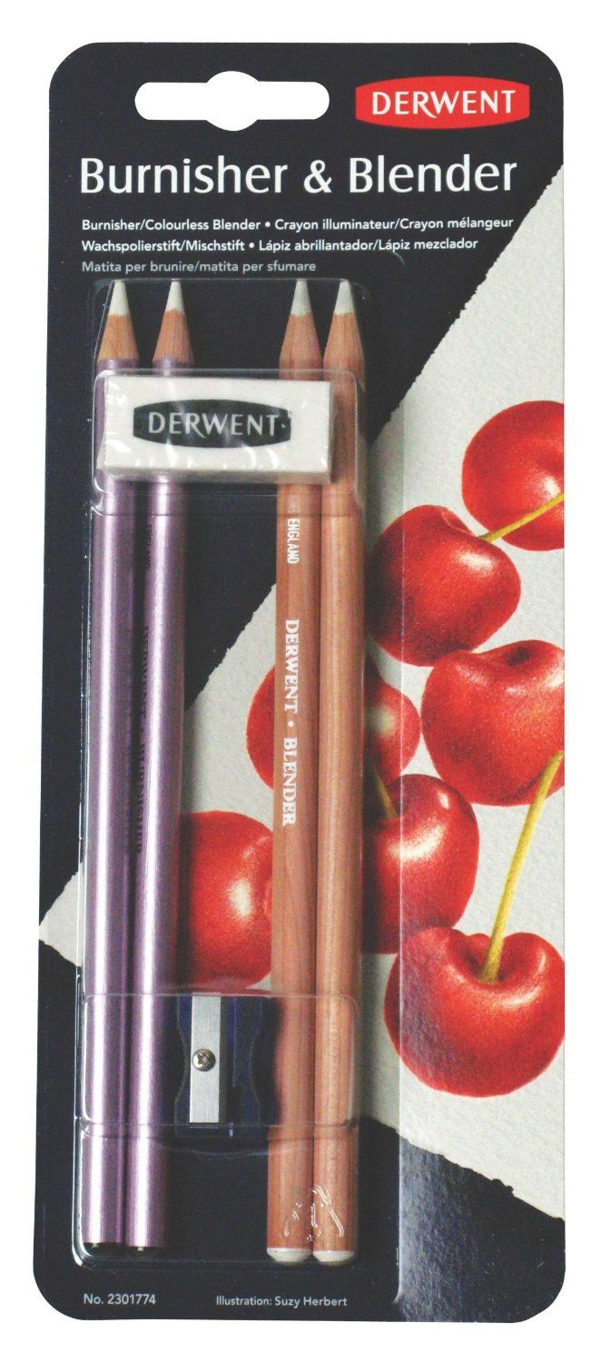 Amazon.com : Derwent Blender and Burnisher Pencil Set, Drawing, Art Supplies (2301774) : Wood Colored Pencils : Arts, Crafts & Sewing
