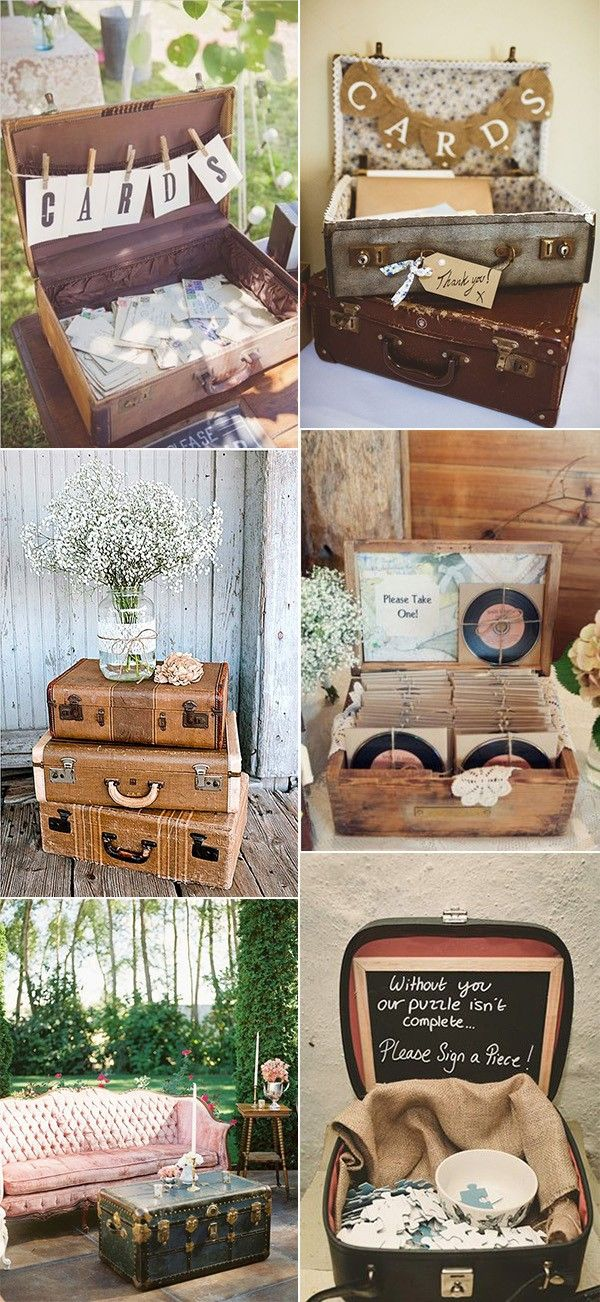 vintage wedding ideas with suitcases