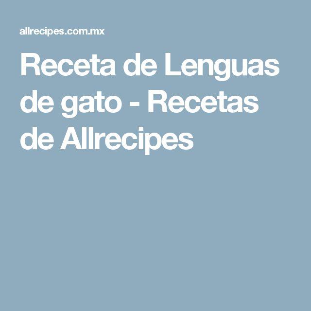 Receta de Lenguas de gato - Recetas de Allrecipes