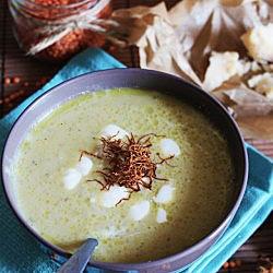 Red lentil soup with parmigiano