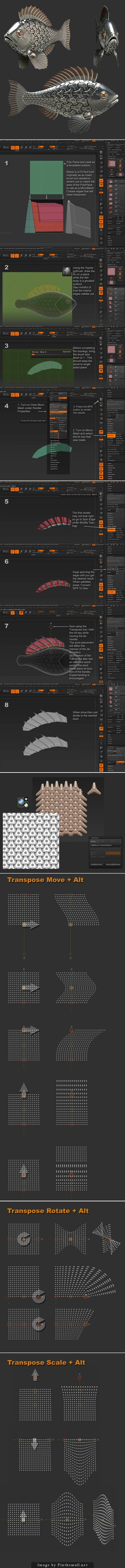 http://www.zbrushcentral.com/showthread.php?185595-Creating-fins-using-MicroMesh