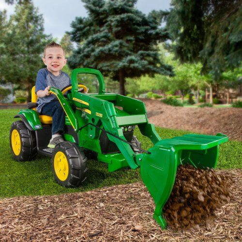 Peg Perego John Deere Ground Loader Tractor Battery Powered Riding Toy