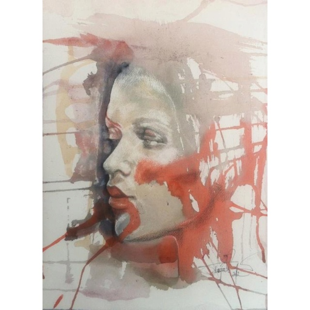 Tanja Vean:  Watercolor and graphite. Size A3.   #aquarelle #watercolor #tanja_vean #art #painting