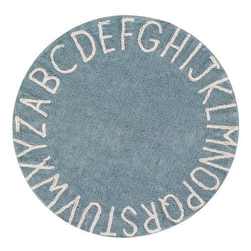 Matta med bokstäver, Blå - Mattor barnrum