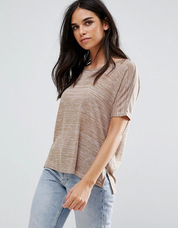 Vero Moda Burn Out T-Shirt - Pink