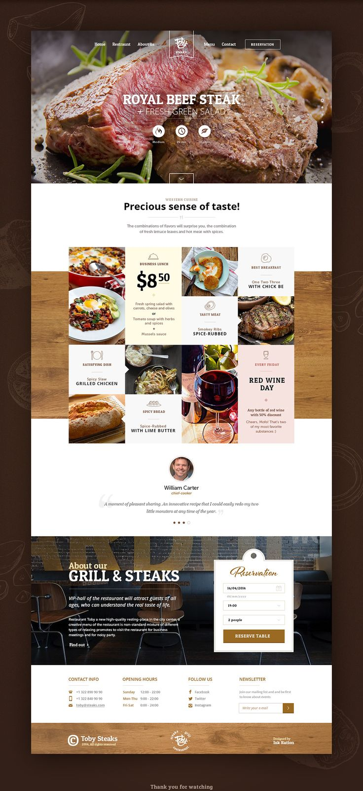 Toby Steaks website on Web Design Served