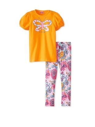 61% OFF Me Too Kid's Tee & Legging Set (Orange)