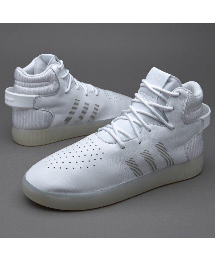 Adidas Sale Originals Tubular Invader White Chalk White Trainers