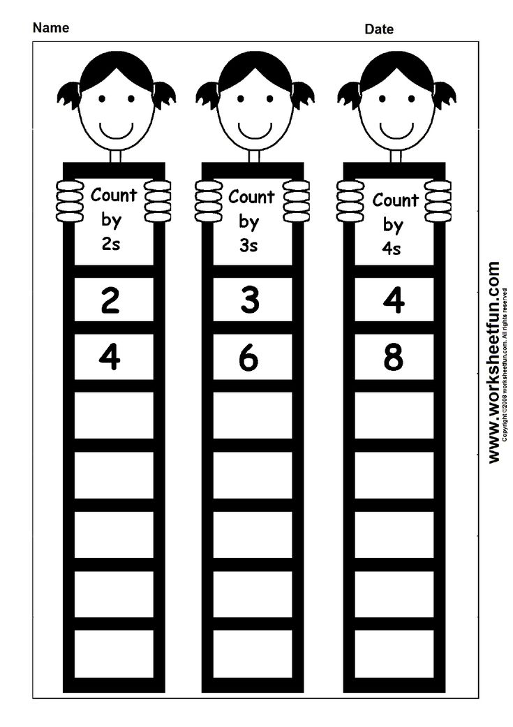 skip counting by 2 3 and 4 1 worksheet printable worksheets pinterest count skip. Black Bedroom Furniture Sets. Home Design Ideas