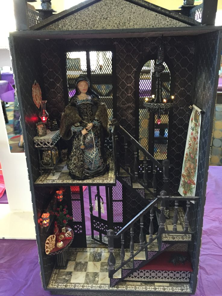 """Liz's """"A Hallway for All Seasons"""" designed by Ron Mummert decorated in Gothic style-interior"""