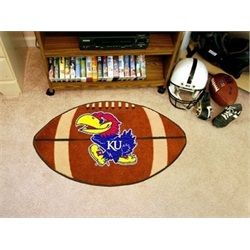 University of Kansas Jayhawks KU Football Floor Rug Mat