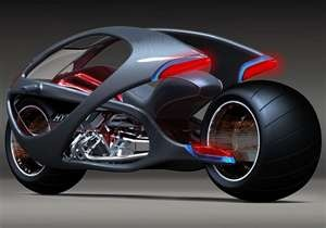 Hyundai motorcycle concept musculature inspired
