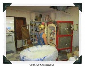 Toni in the studio #zizamele #giftswithapurpose #giftswithacause #uniquegifts #africanhandicraft #homedecor #handmadeproducts
