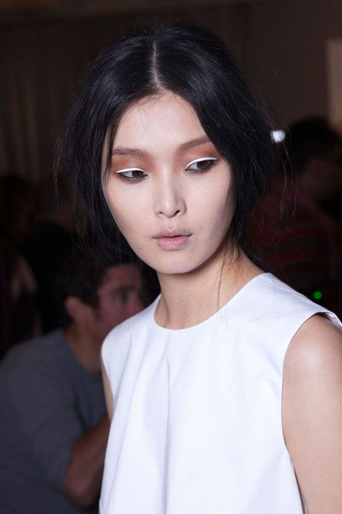 White eyeliner by J. Galliano S/S 2013.