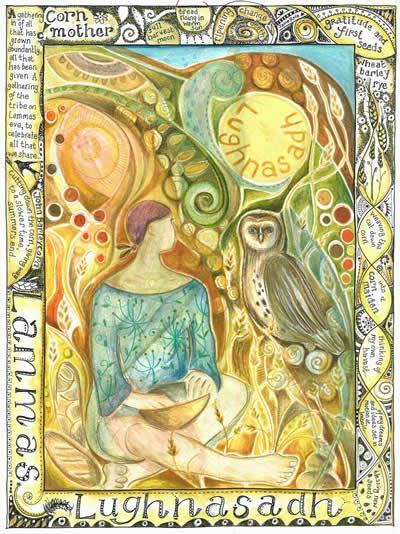 lughnasadh sabbat greetings card