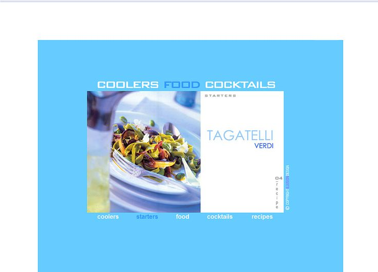 | HTML | ☆ Coolers Food Cocktails ☆