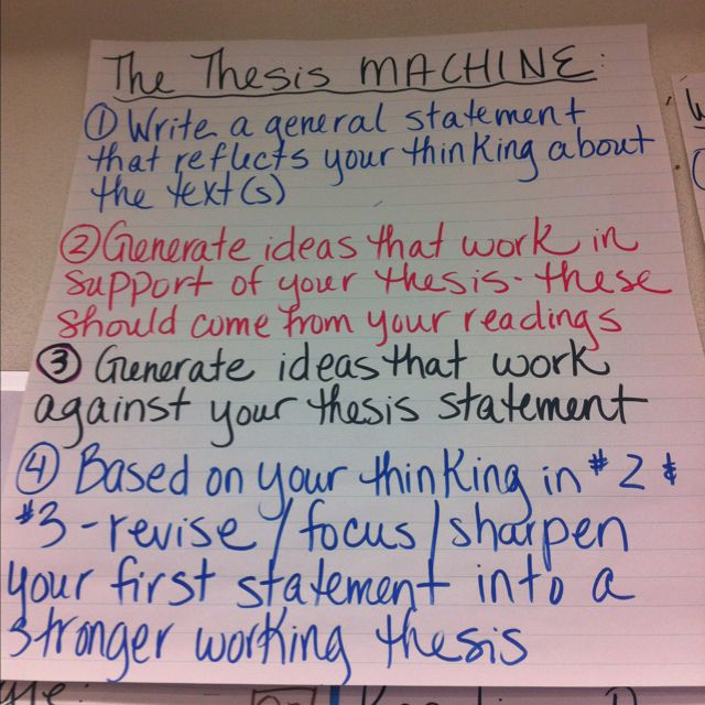 4 different types of thesis statements