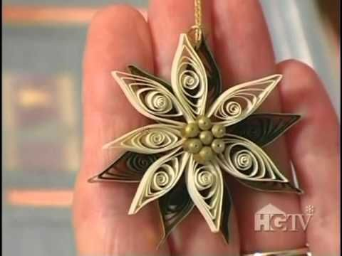 Great video tutorial from Ann Martin on making quilled paper poinsettias.
