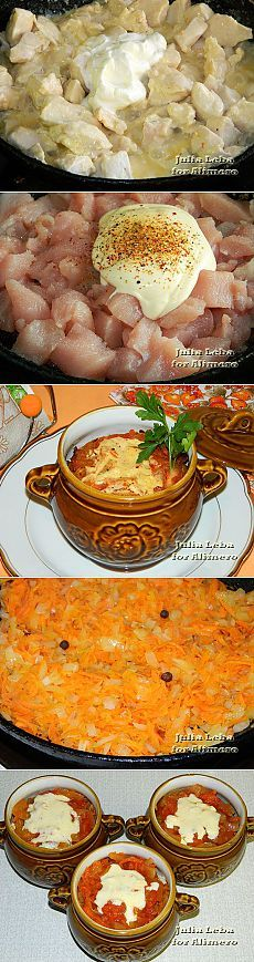 Маринованная куриная грудка в горшочках / Рецепты с фото