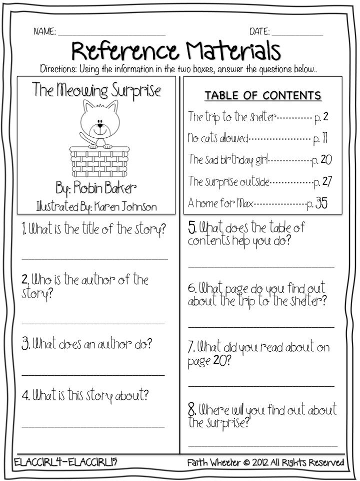 Worksheets Library Skills Worksheets library skills worksheets worksheet workbook