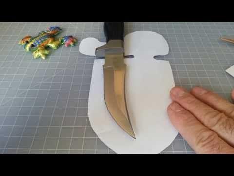 How to make a Knife Sheath | Full Tutorial - YouTube