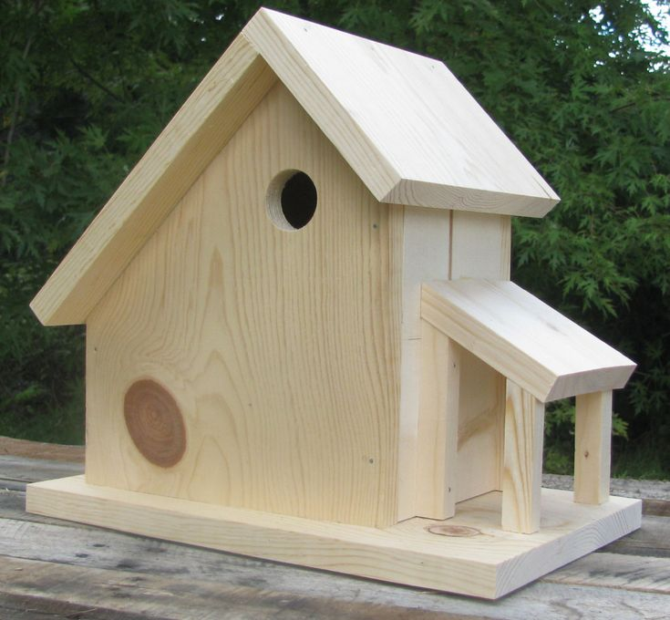 Sloped Roof Barn Birdhouse Kit by HomeTidingsLLC on Etsy