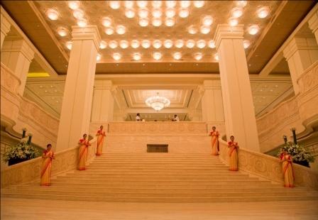 Sangam, the grand staircase at #ITCGrandChola