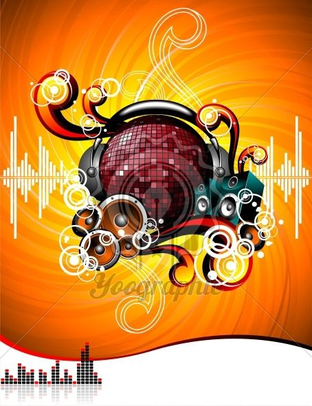 illustration for a musical theme - Royalty Free Vector Illustration