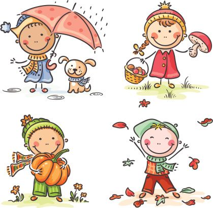 Autumn Kids Vector Art 165730879 | Getty Images