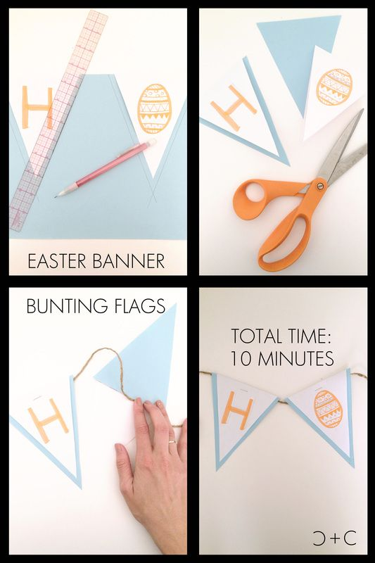 DIY Easter Banner Bunting Flags - perfect for any occasion!