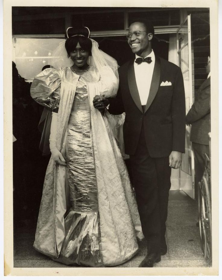 The wedding of Yahne King Sangre and Clavender Bright Parker.circa 1955-1965. Africa, Liberia
