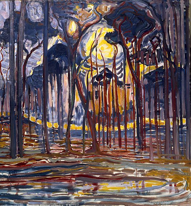 Piet Mondrian (Pays-B.1872 - 1944),Le bois près d'Oele, 1908, huile sur toile, 128 x 158cm, Paris,Centre national d'art et de cultu...