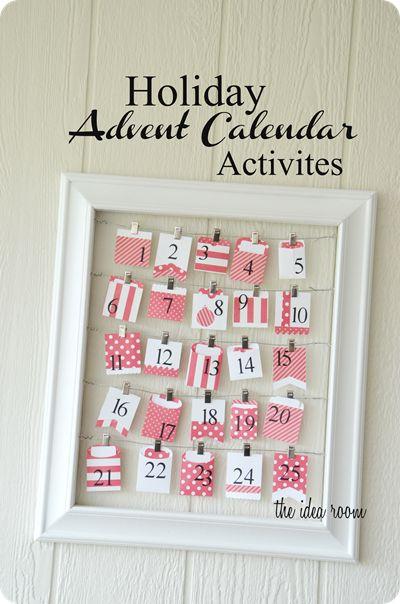Holiday Advent Calendar Activities - The Idea Room