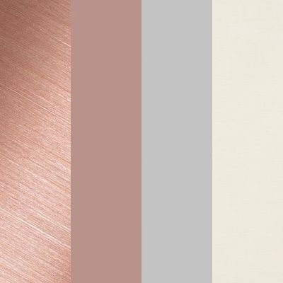 Colour Palette - Ivory, Dove Grey, Blush and Rose Gold.