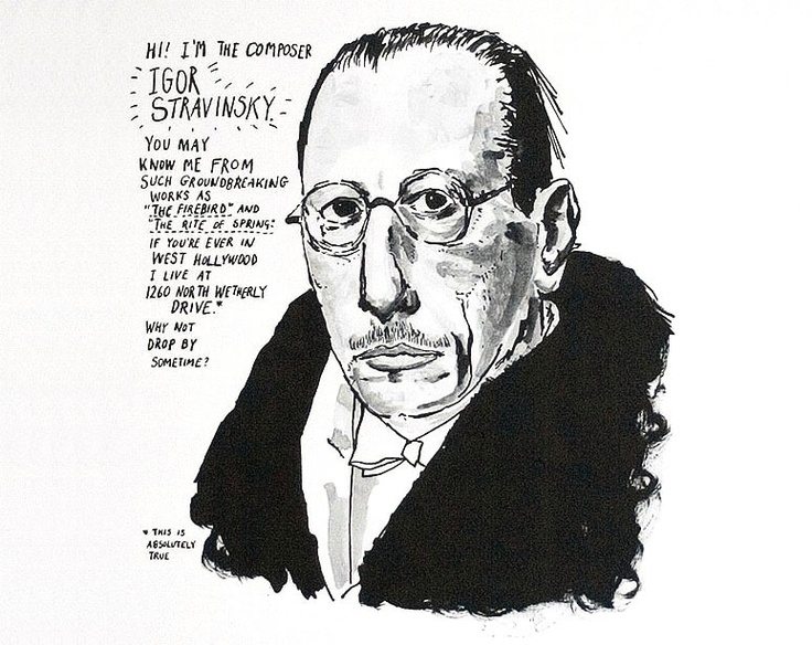 Image result for stravinsky cartoon