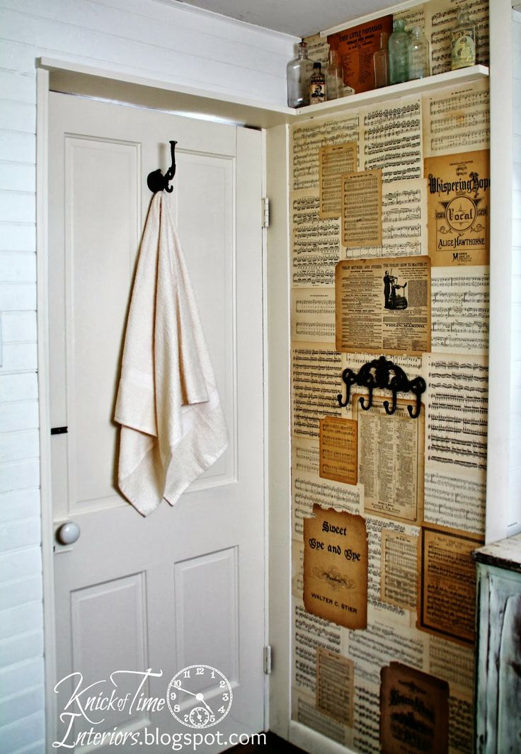 Repurposed Sheet Music Walls from Knick of Time